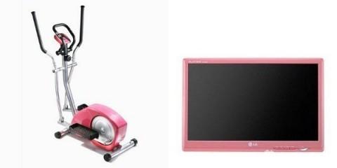 Růžový rotoped a televize