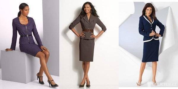 Dámský kostým – je elegantní a najdeme ho v každém dámském šatníku ... dfbed5c617c