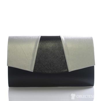 5446b2b269 Luxusní černo stříbrné psaníčko Royal Style Madison